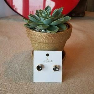 Kate Spade earrings black studs